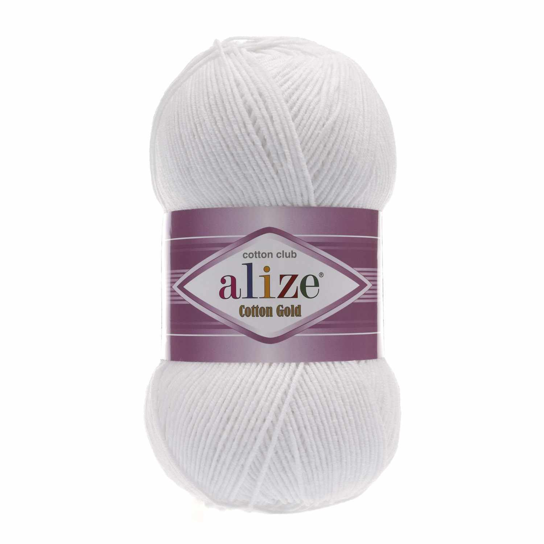 Пряжа Alize Cotton Gold Цвет.55 Белый