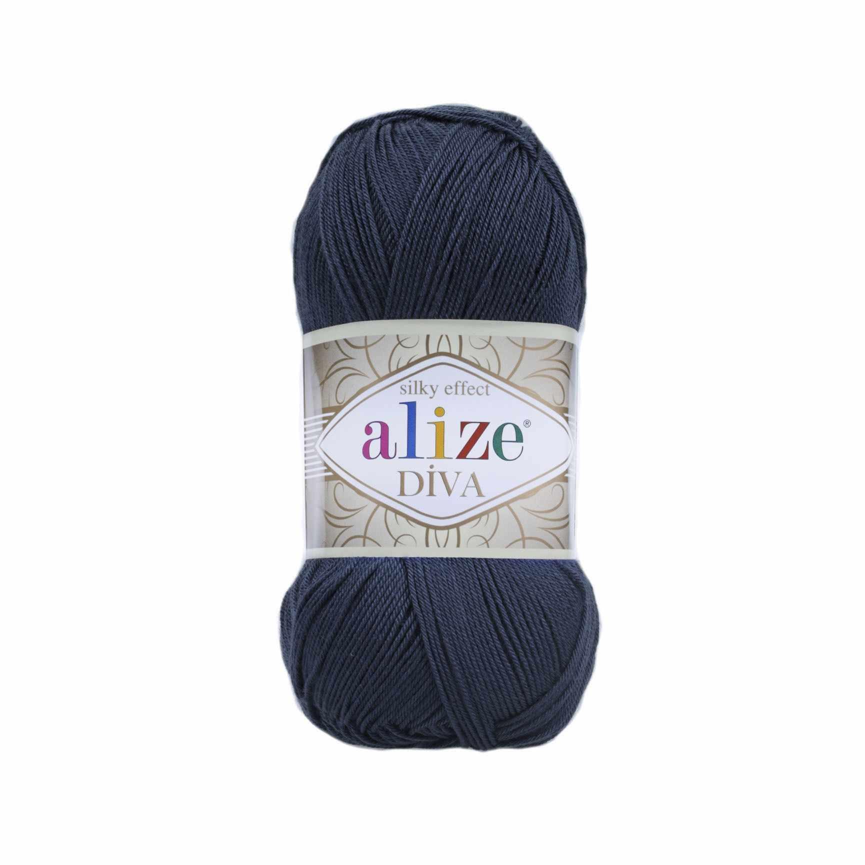 Пряжа Alize Diva Цвет.361 Т.синий