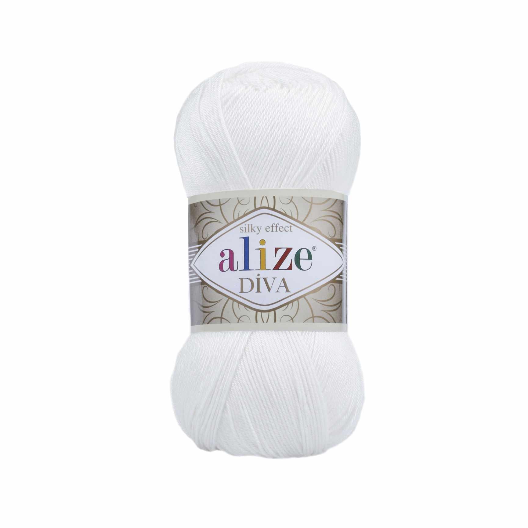 Пряжа Alize Diva Цвет.55 Белый