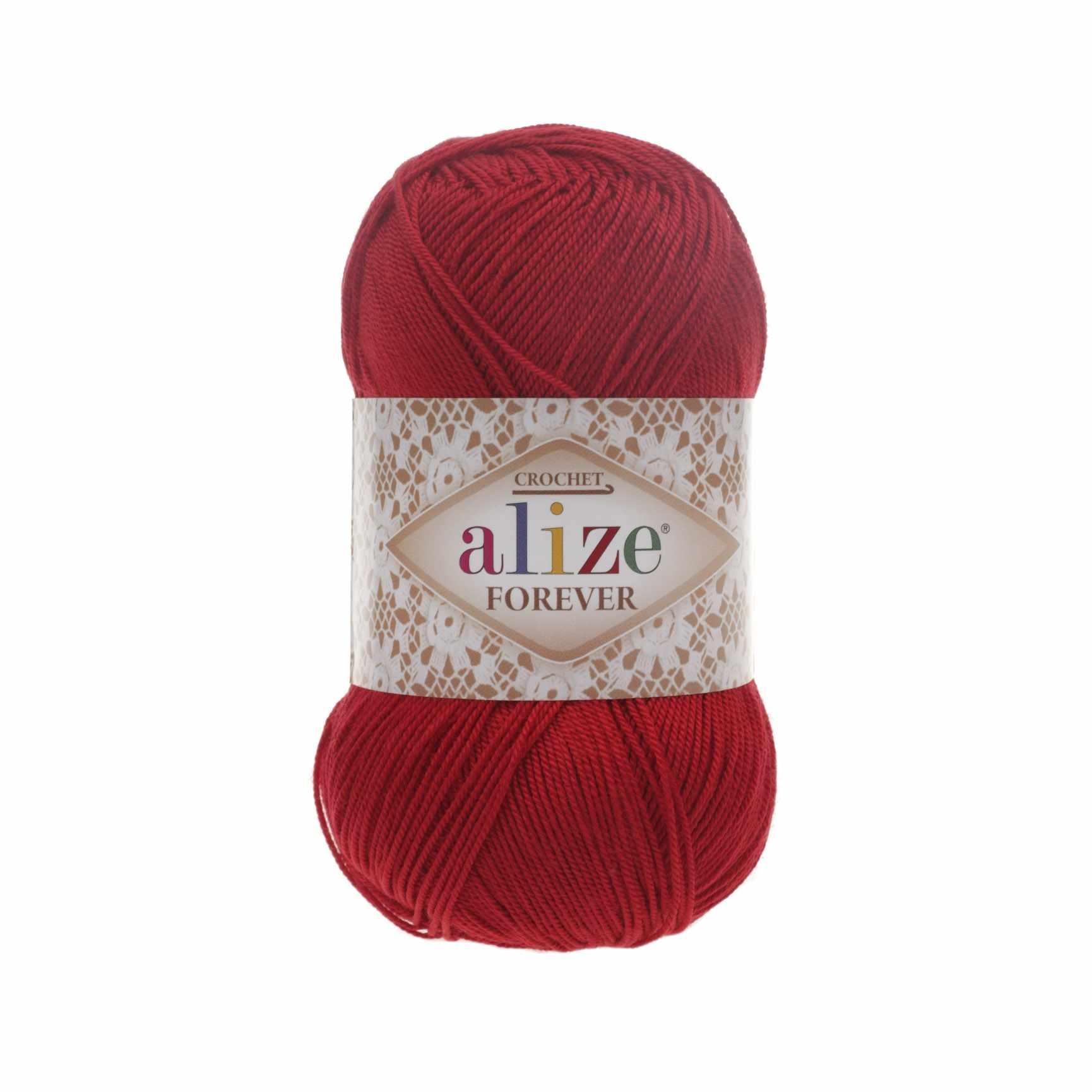 Пряжа Alize Forever Цвет.106 Красный