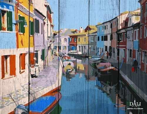 WC001 Красочные дома Венеции