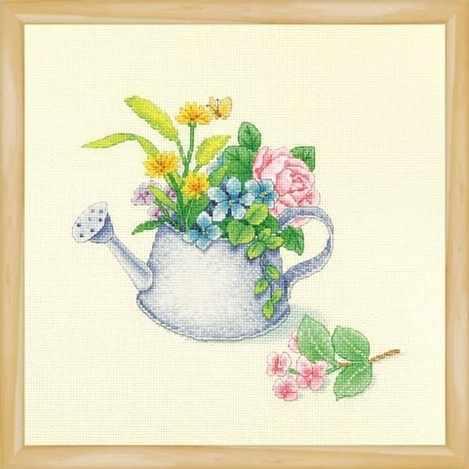 2800912 Цветы в лейке - набор (Xiu Crafts)