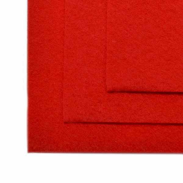 TBY.FLT-H1.601 Фетр листовой жесткий, красный
