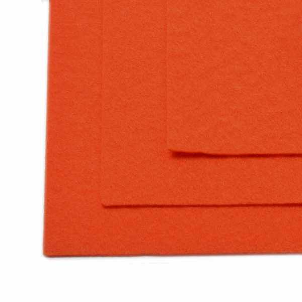 TBY.FLT-H1.628 Фетр листовой жесткий, оранжевый