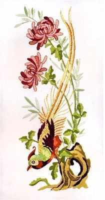 PE0644 Винтажные хризантемы
