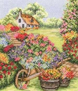 PCE0749 Тележка с цветами