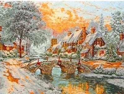 5678-1062 Каменный мост в Рождество