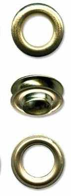Люверсы №03 d 5 мм, золото