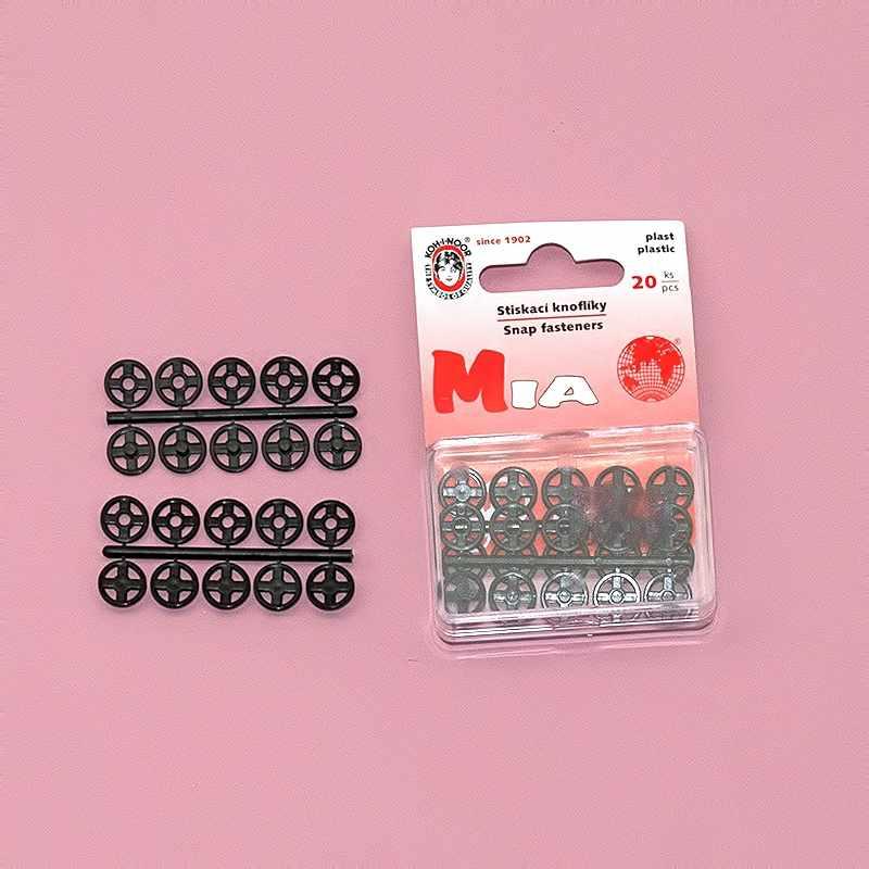 """MIA1020 №3 Кнопки пришивные 11 пластик """"KOH-I-NOOR"""" d 10 мм,черный"""
