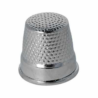 """Наперсток с дном 36 (4005) никель """"KOH-I-NOOR"""" №3  d 14.5мм"""