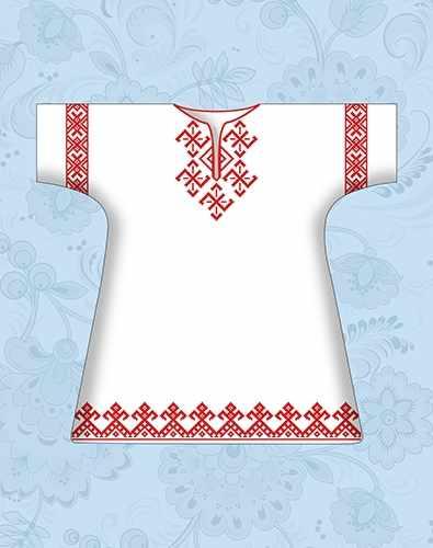 КР-01 Сорочка детская крестильная х/б (Каролинка)