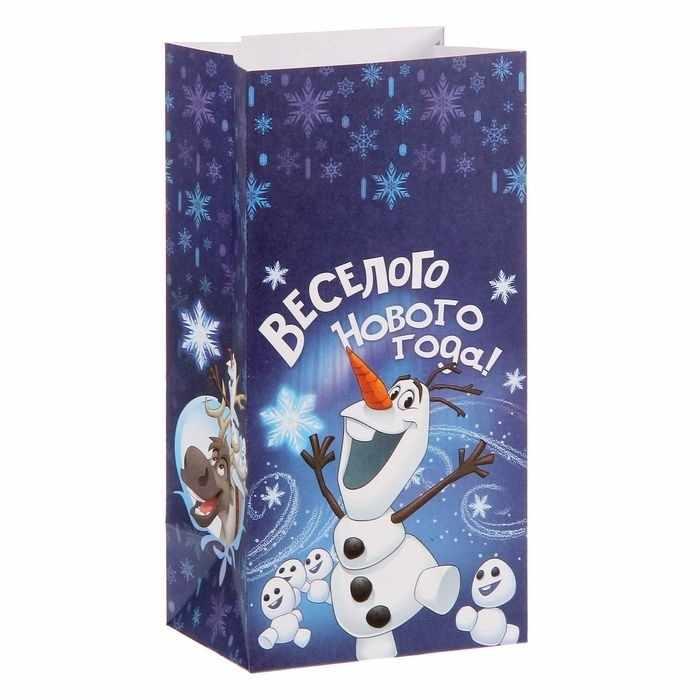 """1360552 Пакет подарочный без ручек """"Веселого Нового года!"""", Холодное сердце"""