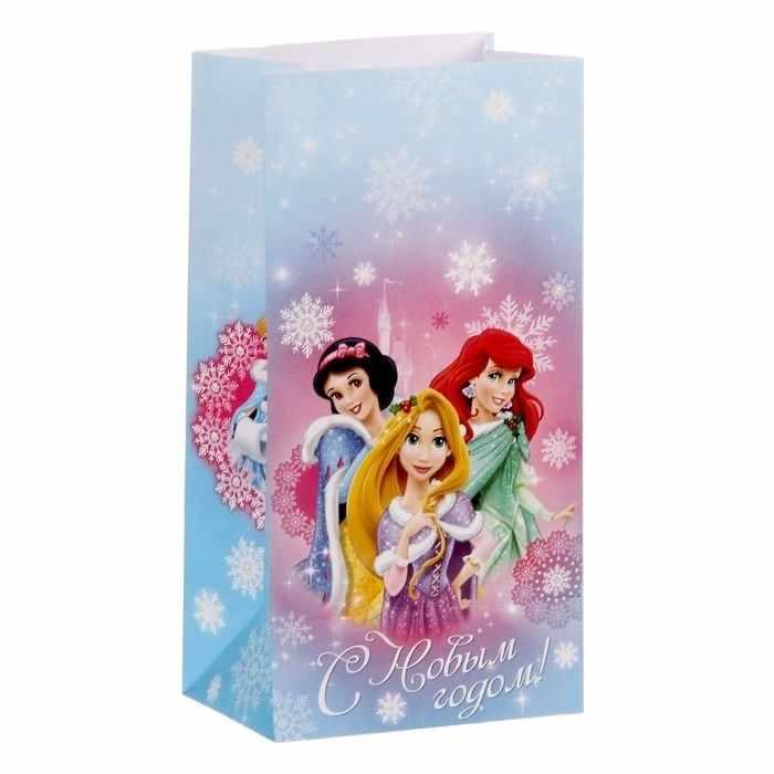 """1360554 Пакет подарочный без ручек """"С Новым годом!"""", Принцессы"""
