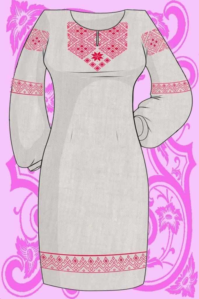КБПН/лен/-08 Набор для вышивки платья