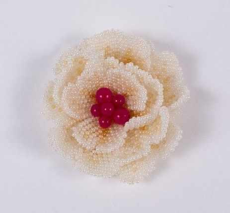 8414 Персиковая роза - набор (МП)
