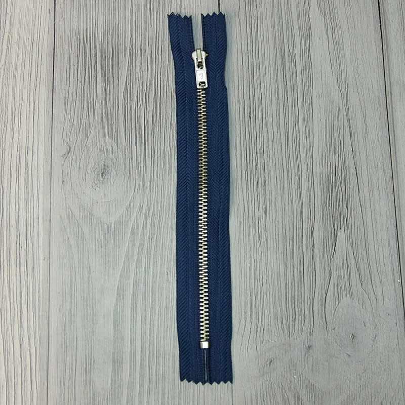 GMD-841 Молния металл 18 см никель №009, цвет синий №214