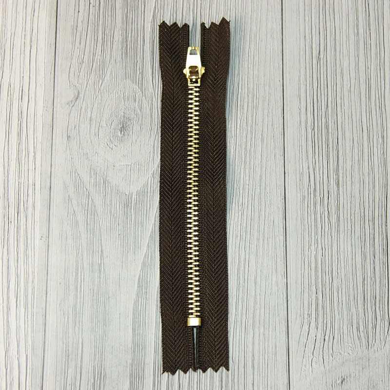 GMD-941 Молния металл 12 см латунь №М-01, цвет т.коричневый №295