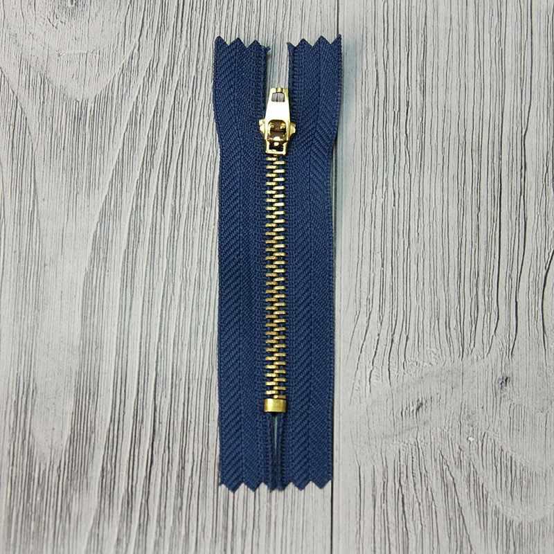 GMD-941 Молния металл 8 см латунь №М-01, цвет синий №214