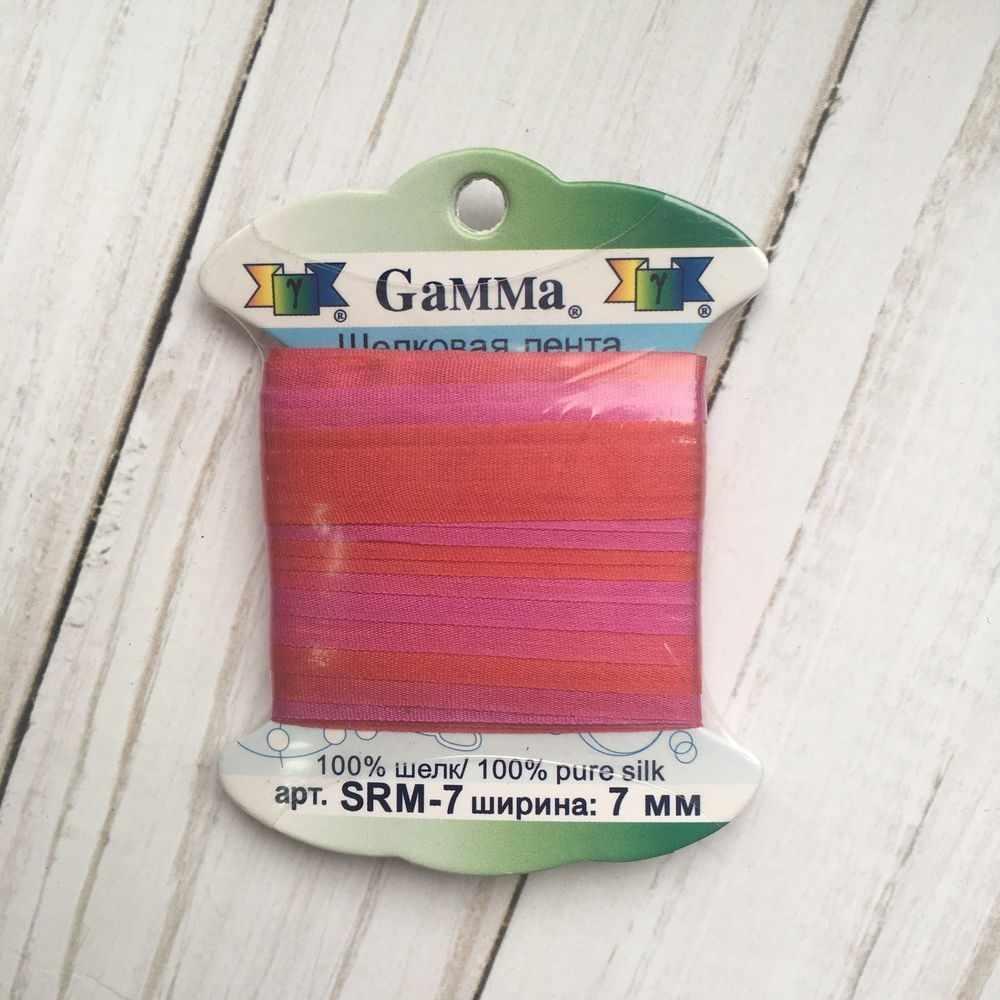 """SRM-7 7 Лента декоративная """"Gamma"""" шелковая M105 т.красный/сиреневый"""