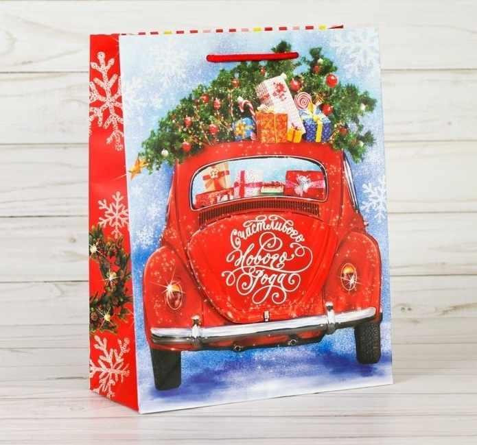 """2276187 Пакет ламинат с открыткой """"Счастье нового года"""""""