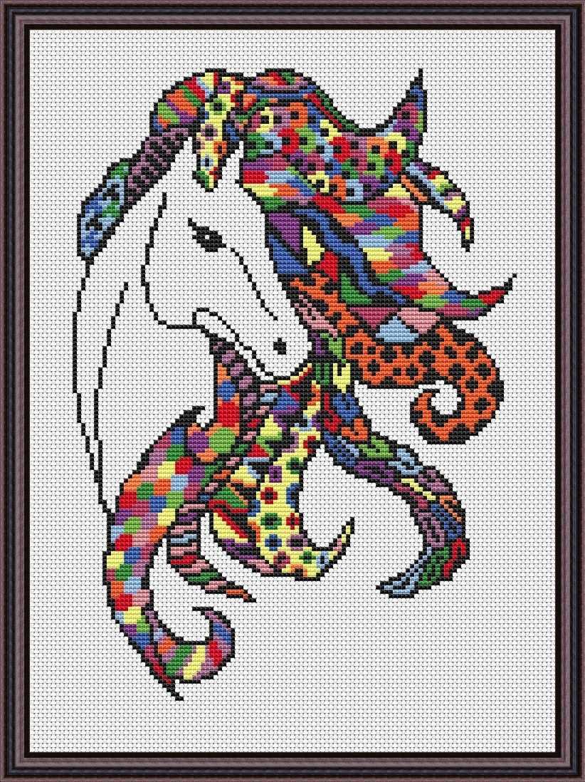 Вф-013 Яркая лошадь - набор (Орнамент)