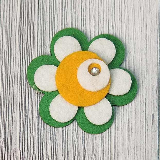 "Аппликации ""Annet"" на клеевой основе № 7 (7-1239G цветок со стразой 4.3х4.3 см)"
