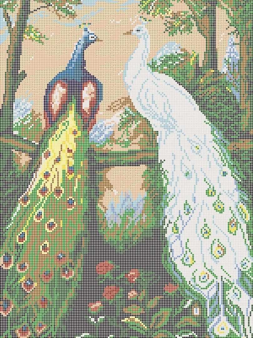 КАЮ4001 Павлины - схема для вышивания (Матрёшкина)