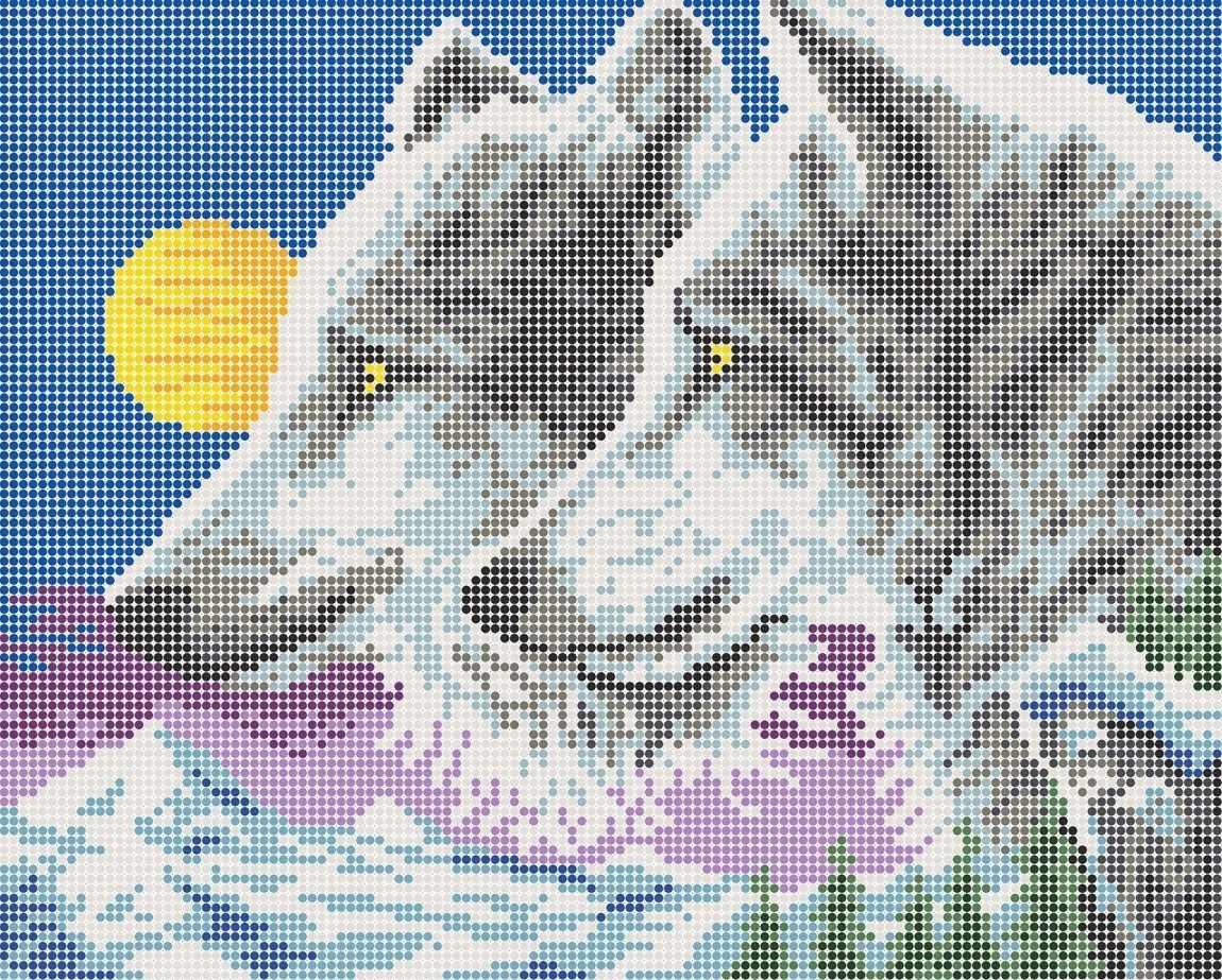 КАЮ4030 Волки на закате - схема для вышивания (Матрёшкина)