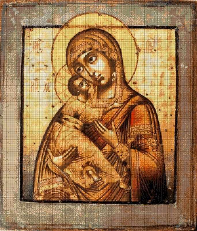 Владимирская икона Божией Матери - набор для вышивания (А. Токарева)