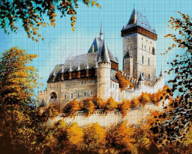 49-3264-НЗ Замок - набор для вышивания (А. Токарева)