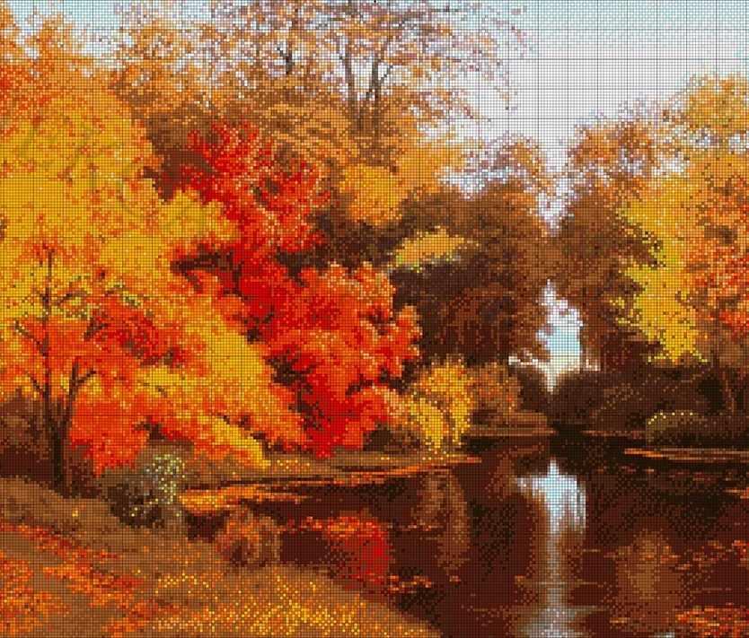 34-2560-НО Осенняя сказка - набор для вышивания (А. Токарева)