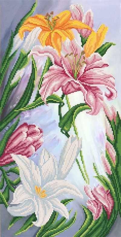 3b3c6023e3582c Рисунок на ткани РКП-2-040 Роскошные лилии схема Марiчка купить в ...