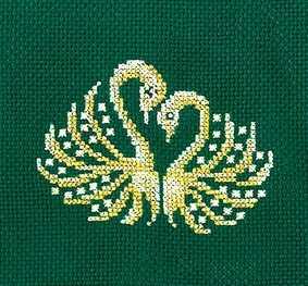 З-26 Золотые украшения.Лебеди
