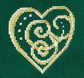 З-33 Золотые украшения.Сердце