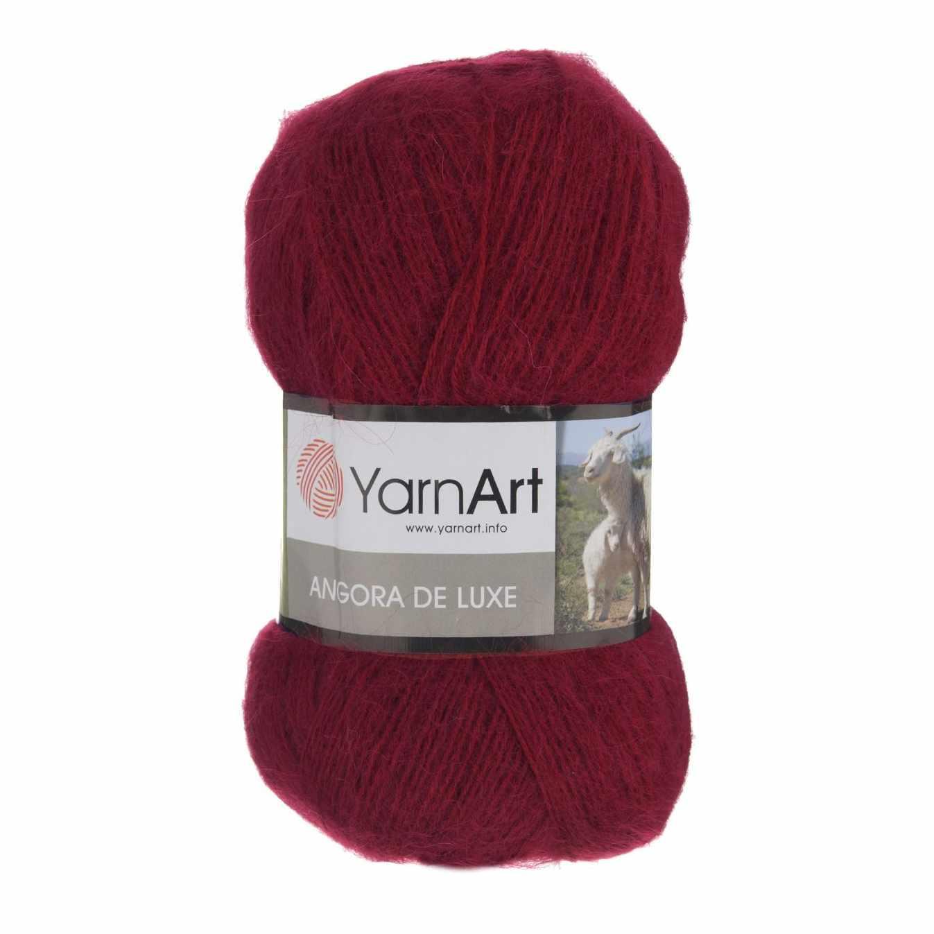 Пряжа YarnArt Angora De Luxe Цвет.3024 Клюква