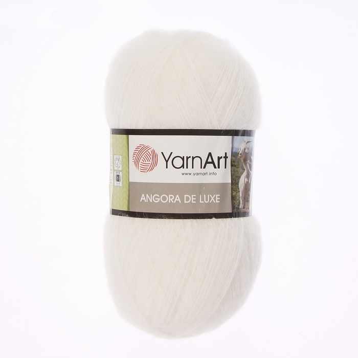 Пряжа YarnArt Angora De Luxe Цвет.501 Белый