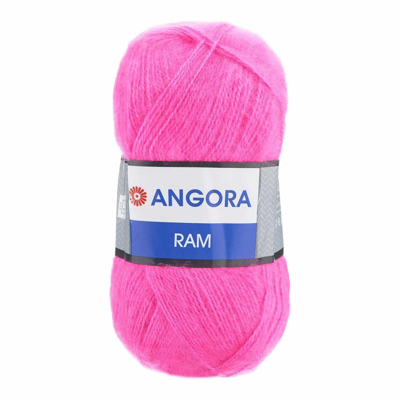 Пряжа YarnArt Angora Ram Цвет.174 Розовый неон