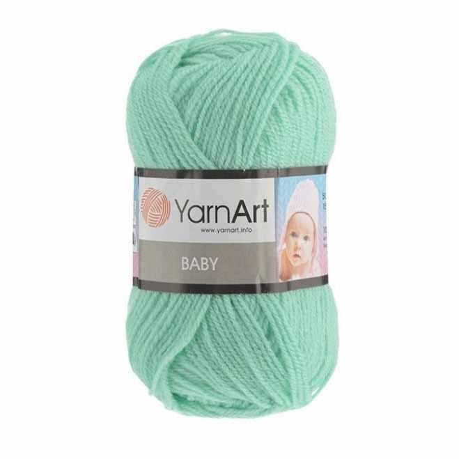 Пряжа YarnArt Baby Цвет.623 Светло зеленый