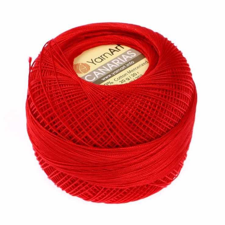 Пряжа YarnArt Canarias Цвет.6328 Красный