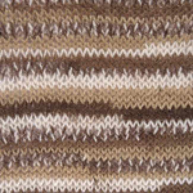 Пряжа YarnArt Crazy Color Цвет.110 Бежево-коричневый
