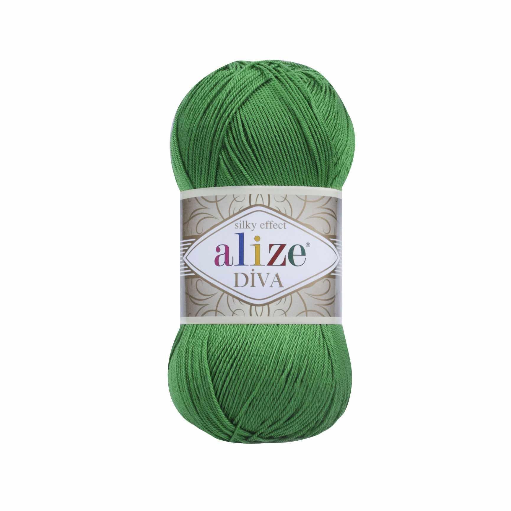 Пряжа Alize Diva Цвет.123 Изумруд