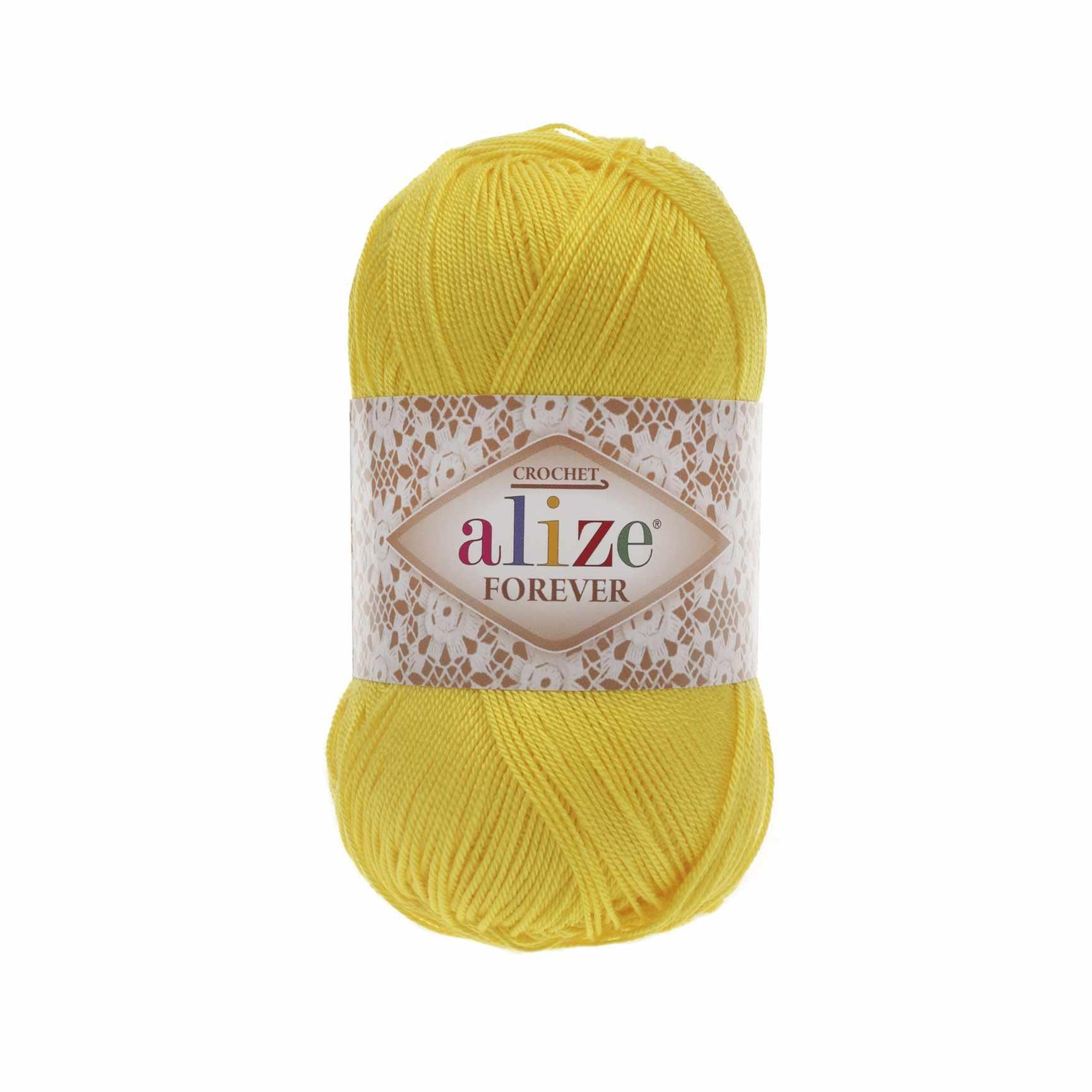 Пряжа Alize Forever Цвет.110 Ярко желтый
