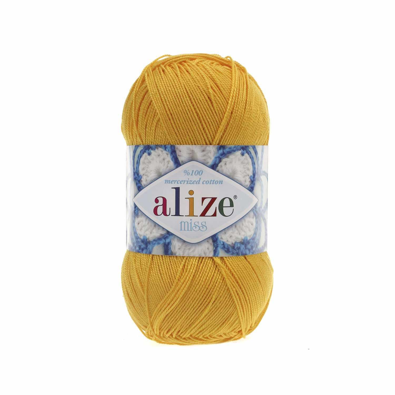 Пряжа Alize Miss Цвет.216 Желтый