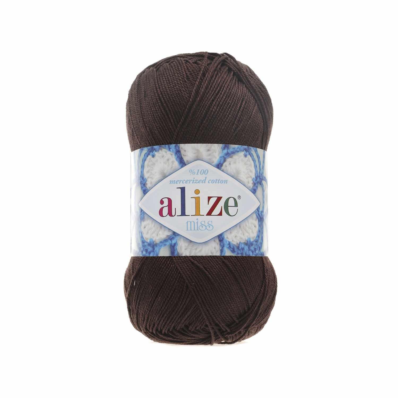 Пряжа Alize Miss Цвет.26 Т.Коричневый