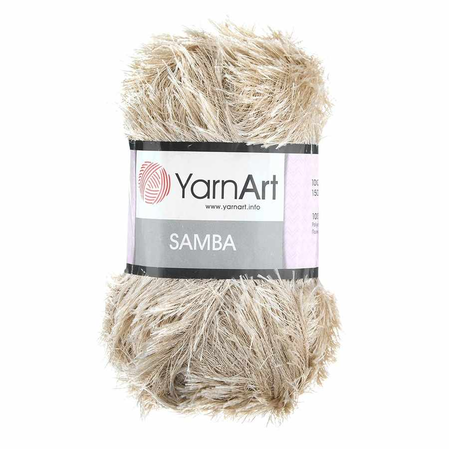 Пряжа YarnArt Samba Цвет.04 Кремовый