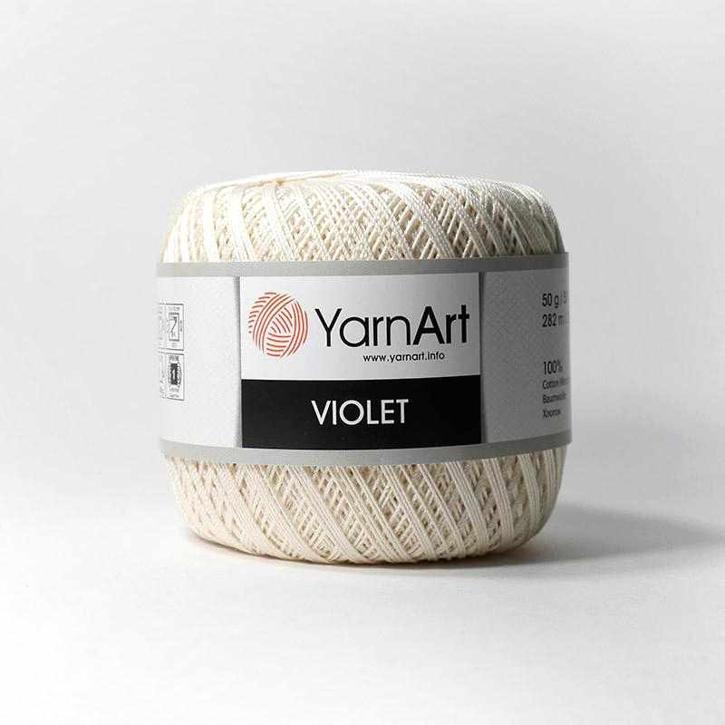 Пряжа YarnArt Violet Цвет.6282 Молоко