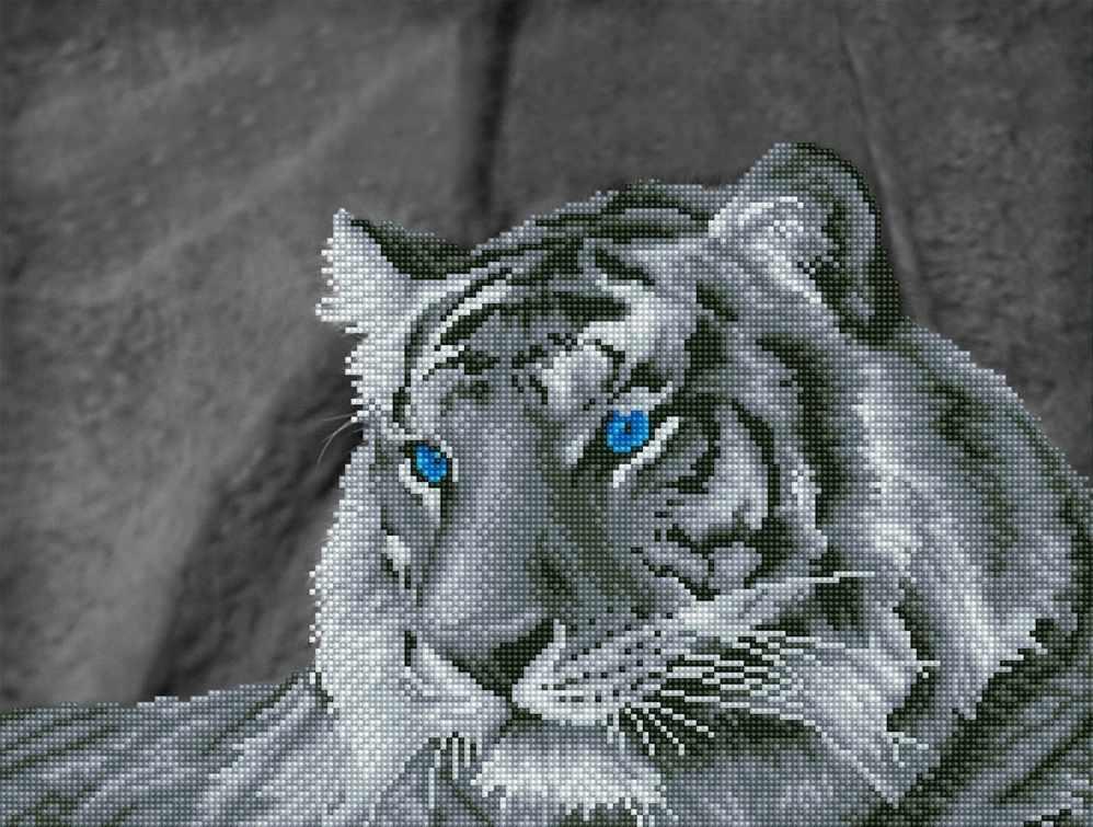 """ALV-3 Кристальная мозаика (алмазная вышивка) 01 """"Загадочный тигр"""""""