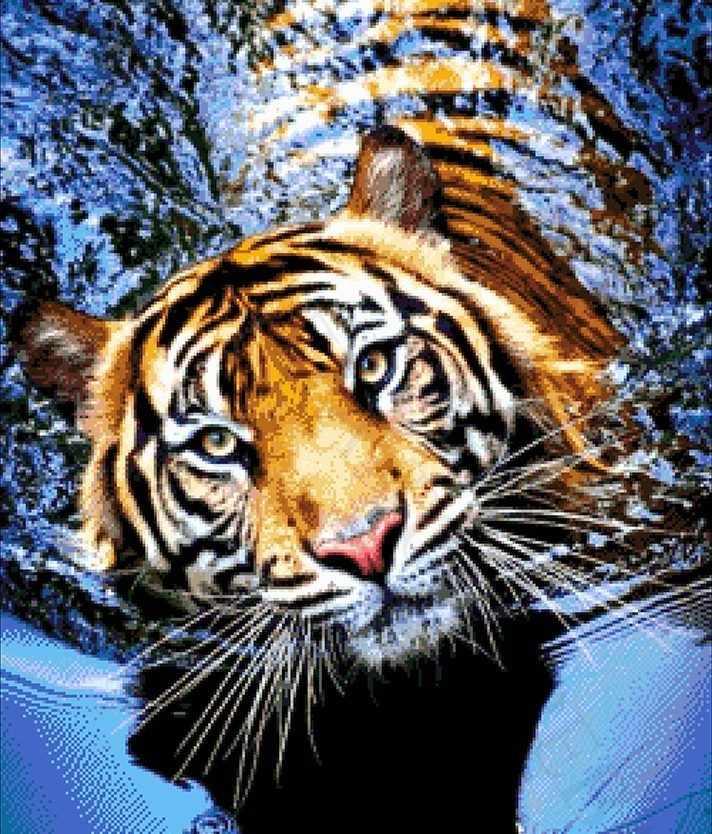 46-2944-НТ Тигр в реке - набор для вышивания