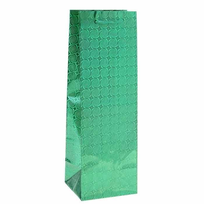 819954 Пакет для бутылки голографический, цвет зелёный