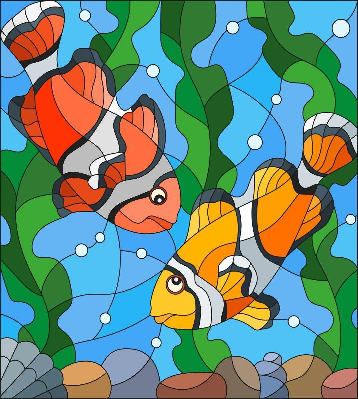 5521/ГЛ Рыбки клоуны- набор для вышивания